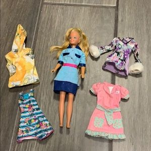 Authentic Vintage 1967 Barbie with clothes
